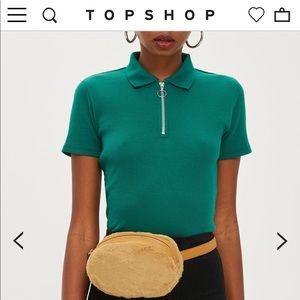 Topshop faux fur waist bag